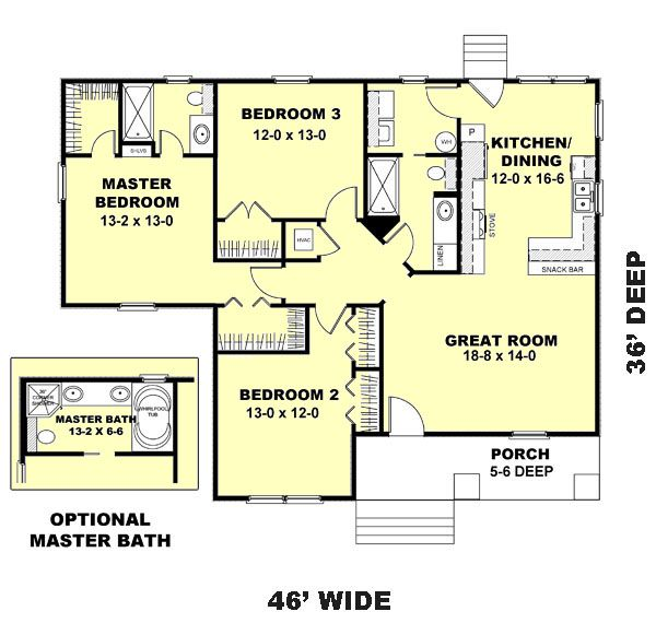 Country Floor Plan - Main Floor Plan #44-177