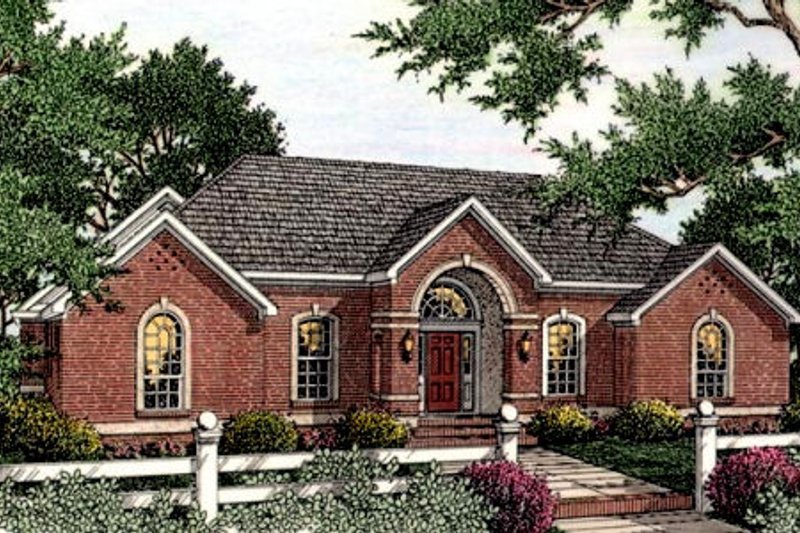 Southern Exterior - Front Elevation Plan #406-119 - Houseplans.com