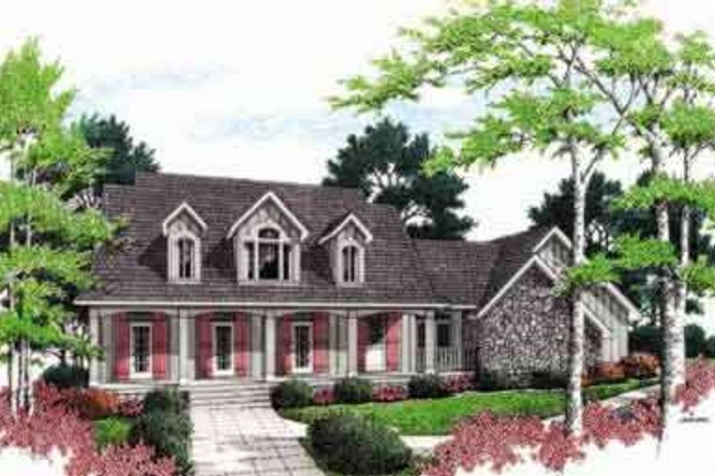 Mediterranean Style House Plan - 4 Beds 4 Baths 3059 Sq/Ft Plan #45-242 Exterior - Front Elevation