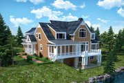 Traditional Style House Plan - 4 Beds 4.5 Baths 3854 Sq/Ft Plan #30-345 Exterior - Rear Elevation