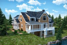 Home Plan - Traditional Exterior - Rear Elevation Plan #30-345