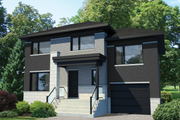 Contemporary Style House Plan - 3 Beds 1 Baths 1419 Sq/Ft Plan #25-4734 Exterior - Front Elevation