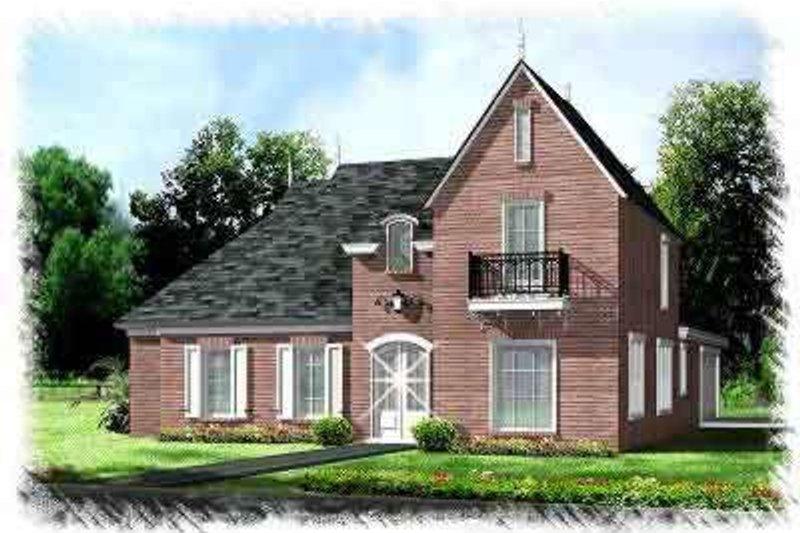 European Exterior - Front Elevation Plan #15-275 - Houseplans.com