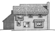 Home Plan - Traditional Exterior - Rear Elevation Plan #20-714