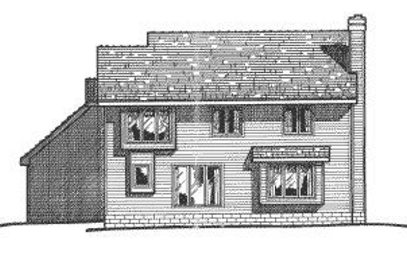Traditional Exterior - Rear Elevation Plan #20-714 - Houseplans.com