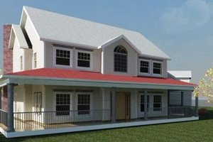 Farmhouse Exterior - Front Elevation Plan #524-15
