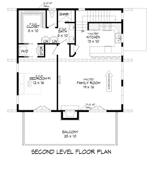 Modern Floor Plan - Upper Floor Plan #932-373