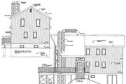 European Style House Plan - 3 Beds 2 Baths 1721 Sq/Ft Plan #3-279 Exterior - Rear Elevation
