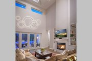 Contemporary Style House Plan - 4 Beds 4 Baths 3582 Sq/Ft Plan #938-92 Interior - Family Room