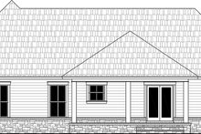 House Plan Design - Country Exterior - Rear Elevation Plan #21-460