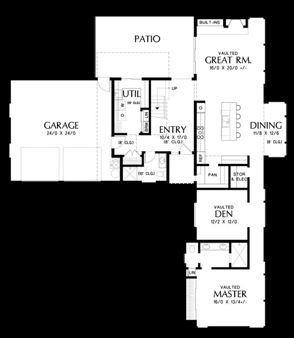 Contemporary Floor Plan - Main Floor Plan #48-693
