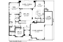 Ranch Floor Plan - Main Floor Plan Plan #70-1117