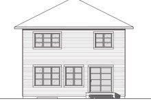 Home Plan - Traditional Exterior - Rear Elevation Plan #23-2703
