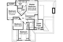 Craftsman Floor Plan - Upper Floor Plan Plan #46-470