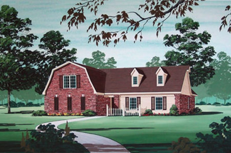 Country Exterior - Other Elevation Plan #45-320 - Houseplans.com