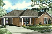 Traditional Style House Plan - 3 Beds 1 Baths 1021 Sq/Ft Plan #17-2287 Exterior - Front Elevation