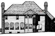 European Style House Plan - 4 Beds 2.5 Baths 3407 Sq/Ft Plan #20-1124 Exterior - Rear Elevation