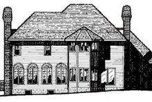 Home Plan - European Exterior - Rear Elevation Plan #20-1124