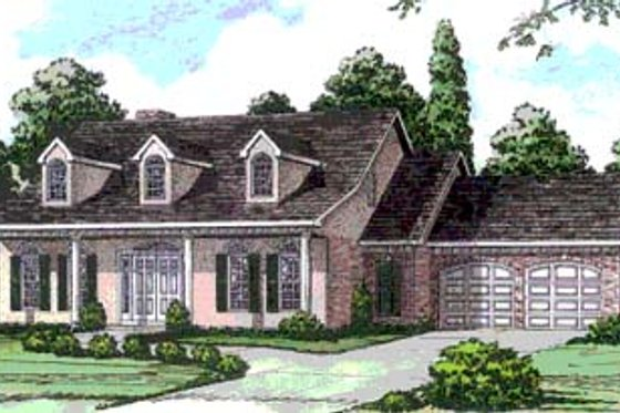 Country Exterior - Front Elevation Plan #16-225