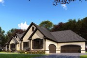 European Style House Plan - 3 Beds 2.5 Baths 3268 Sq/Ft Plan #923-160 Exterior - Other Elevation