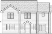 Traditional Style House Plan - 4 Beds 3.5 Baths 2114 Sq/Ft Plan #70-603 Exterior - Rear Elevation