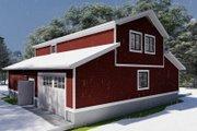 Farmhouse Style House Plan - 1 Beds 2 Baths 880 Sq/Ft Plan #1060-82 Exterior - Rear Elevation