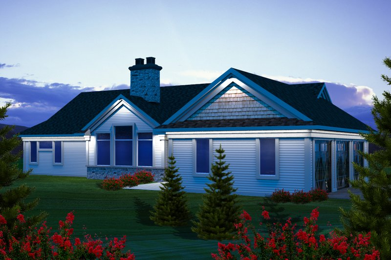 Ranch Exterior - Rear Elevation Plan #70-1138 - Houseplans.com