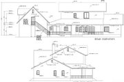 Farmhouse Style House Plan - 3 Beds 3.5 Baths 3062 Sq/Ft Plan #1-765 Exterior - Rear Elevation