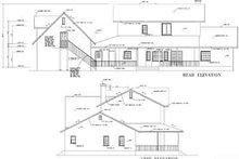 House Blueprint - Farmhouse Exterior - Rear Elevation Plan #1-765