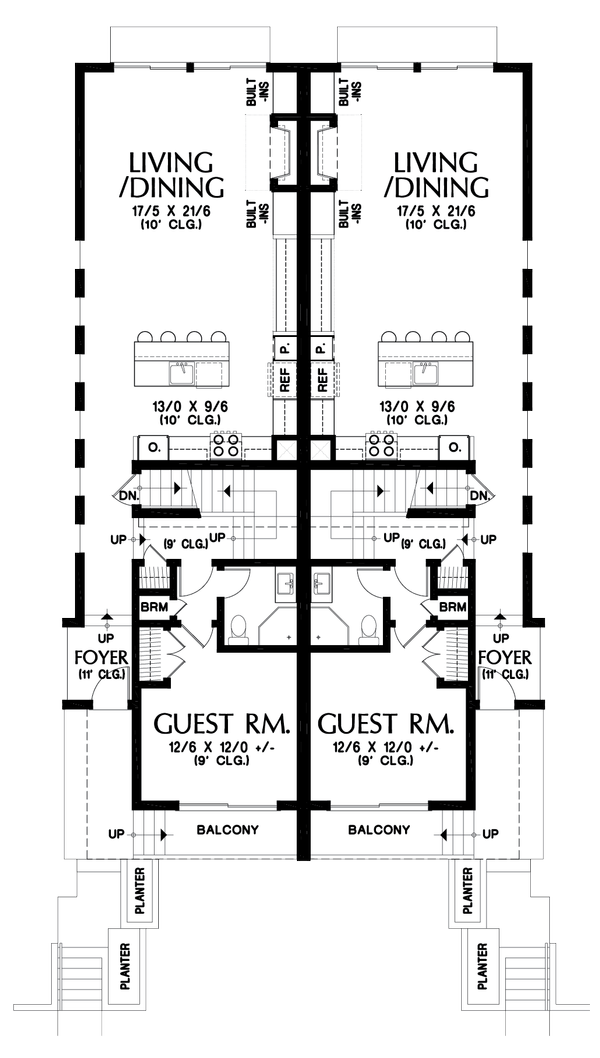Dream House Plan - Contemporary Floor Plan - Main Floor Plan #48-1021