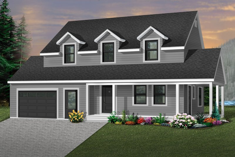Traditional Exterior - Front Elevation Plan #23-278 - Houseplans.com