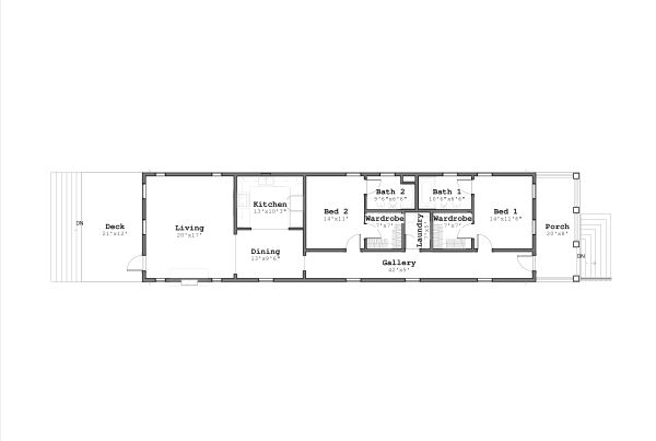 Bungalow Style House Plan - 2 Beds 2 Baths 1622 Sq/Ft Plan #926-2 Floor Plan - Main Floor Plan