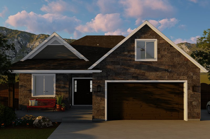 Architectural House Design - Ranch Exterior - Front Elevation Plan #1060-5