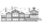 Craftsman Style House Plan - 5 Beds 5 Baths 5022 Sq/Ft Plan #5-443 Exterior - Rear Elevation