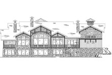Craftsman Exterior - Rear Elevation Plan #5-443