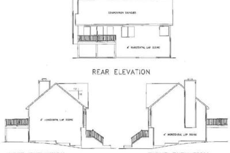 Traditional Exterior - Rear Elevation Plan #56-102 - Houseplans.com