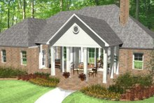 Colonial Exterior - Rear Elevation Plan #406-9616