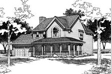 Country Exterior - Front Elevation Plan #20-894