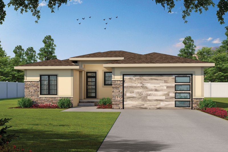 Dream House Plan - Contemporary Exterior - Front Elevation Plan #20-2439