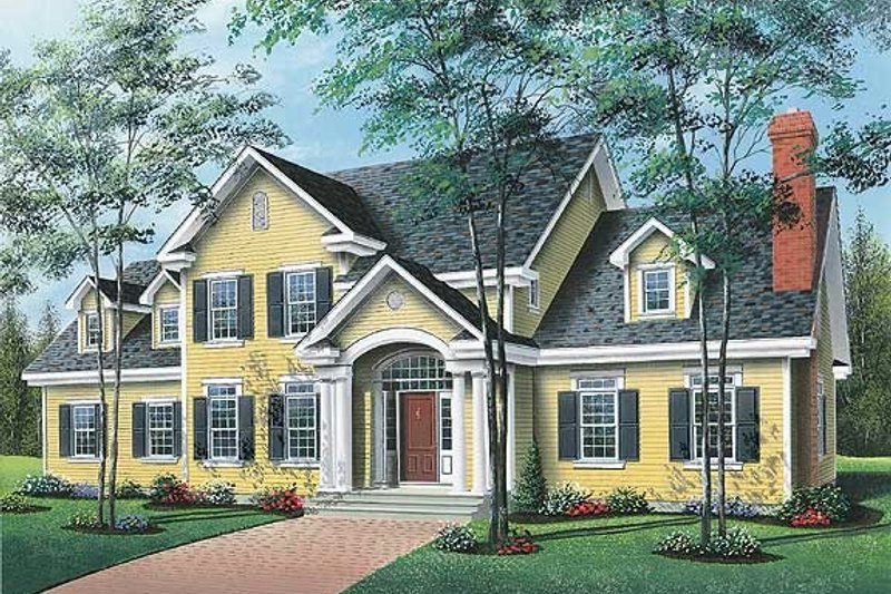 Dream House Plan - Traditional Exterior - Front Elevation Plan #23-331