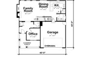 Craftsman Style House Plan - 4 Beds 2.5 Baths 2309 Sq/Ft Plan #20-2289 Floor Plan - Main Floor