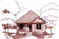 Traditional Style House Plan - 3 Beds 2 Baths 1214 Sq/Ft Plan #79-160 Exterior - Front Elevation