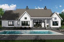 Dream House Plan - Farmhouse Exterior - Rear Elevation Plan #51-1134