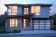 Contemporary Style House Plan - 3 Beds 3 Baths 3315 Sq/Ft Plan #1066-54 Exterior - Front Elevation