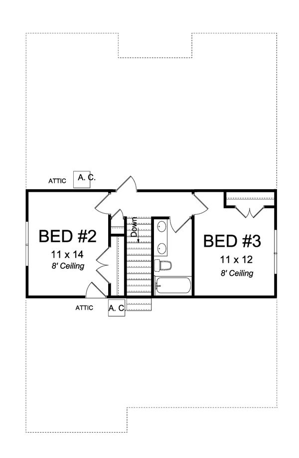 Cottage Floor Plan - Upper Floor Plan #513-2176