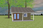 Bungalow Style House Plan - 1 Beds 1 Baths 200 Sq/Ft Plan #423-67