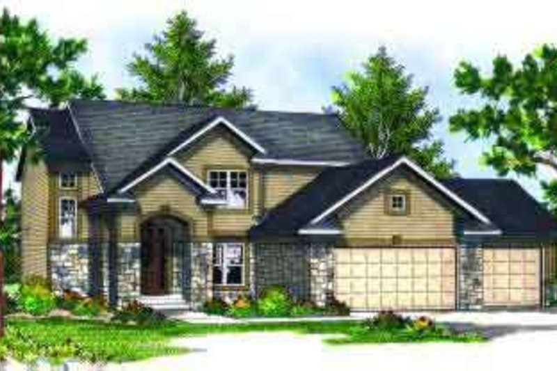 Traditional Exterior - Front Elevation Plan #70-684 - Houseplans.com