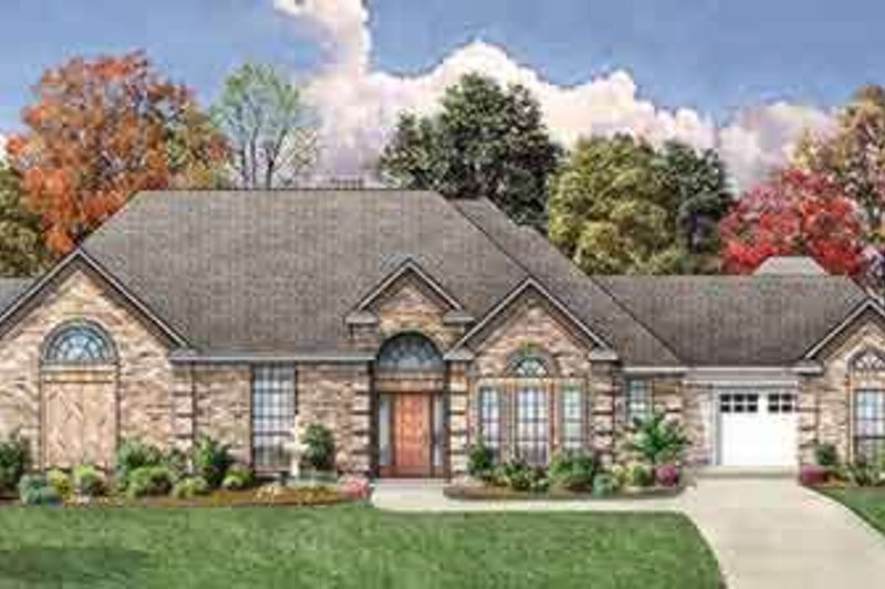 Dream House Plan - Traditional Exterior - Front Elevation Plan #84-185