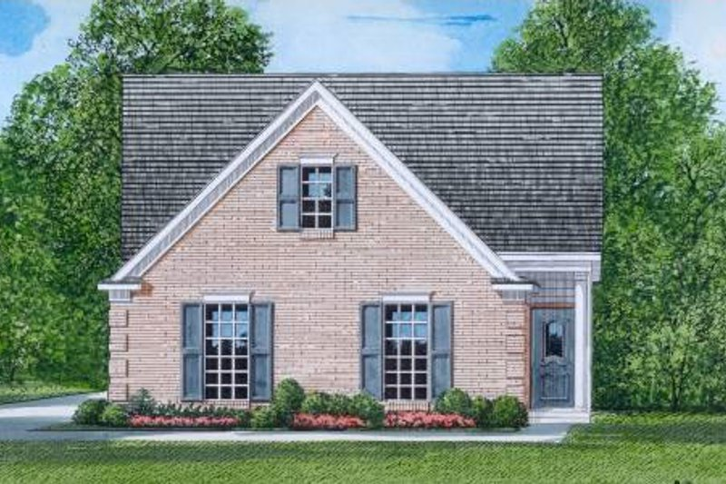 Traditional Style House Plan - 3 Beds 2 Baths 1281 Sq/Ft Plan #424-52 Exterior - Front Elevation