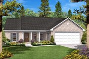 Ranch Style House Plan - 3 Beds 2 Baths 1400 Sq/Ft Plan #430-10 Exterior - Front Elevation
